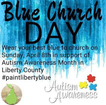 Blue Church Day Autism Awareness