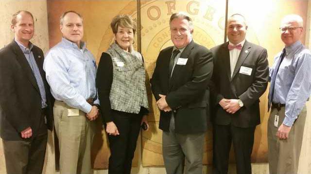 LOng Commissioners Meet w GDOT   Commissioner