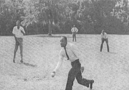 Photo 1 MLKJr playing basebale at Dorchester courtesy Dorchester Acedemy Improvement Assn