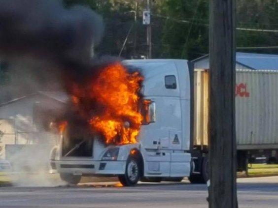 April 24 truck fire