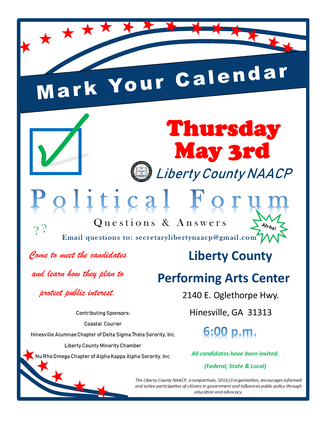 Liberty NAACP candidate forum