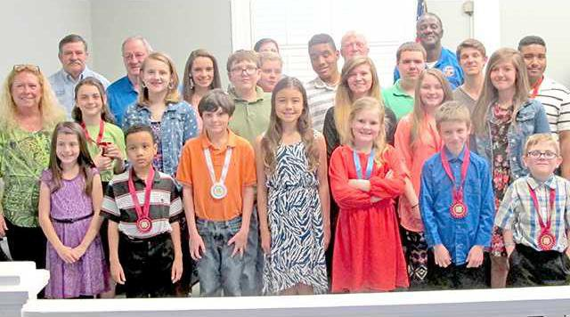 2- 4H Club Recognized by Commissioners for Wed 4-8