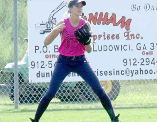 5The Lady Tide SB and FB tm had a tough week shown is Kaylyn McEwin in the MCA SB gm on Monday