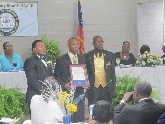 Pastor Eric Hollis NAACP award