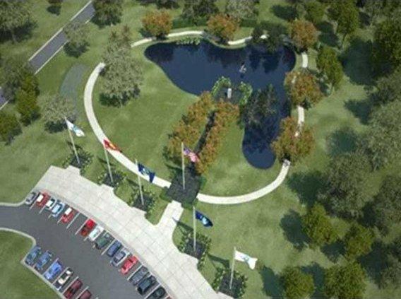 veterans memorial walk concept