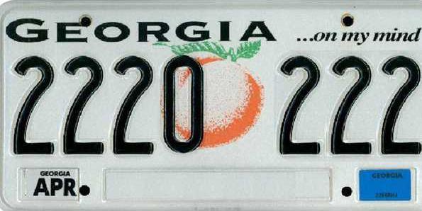 web 0701 License plate