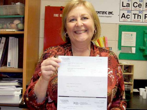 0130 Teacher gets grant