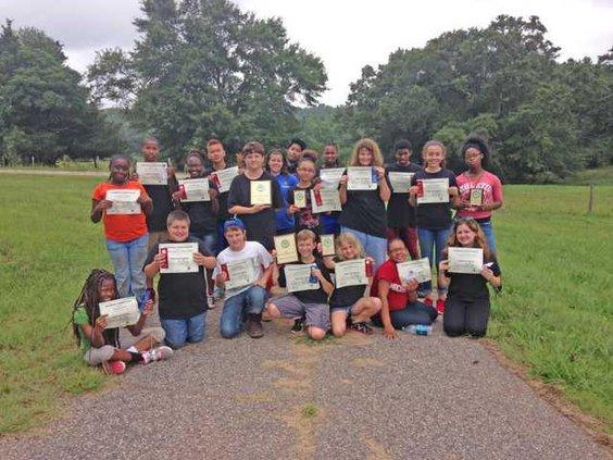 4-H land survey kids