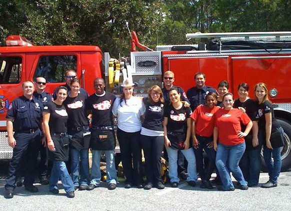 9-16 Give Back chilis firefighters