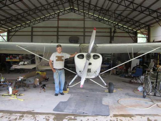 Berg with one of two Aeronca planes