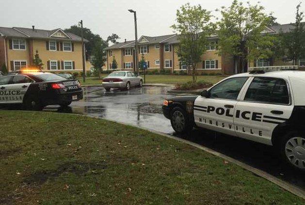 Hinesville stabbing scene
