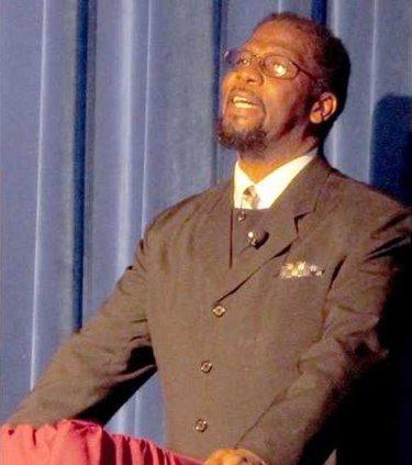 Michael David portraying Dr. Martin Luther King Jr.