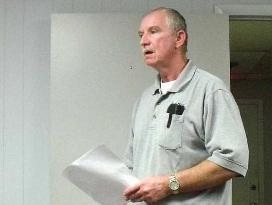 Randy Simmons went before the county commissioners about the expansion of the Long Co Rec Department