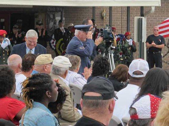 oldest vet present AF Sgt. Russell Glunt recognized