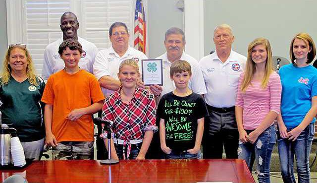 4H Club Thank Long Co Commissioners