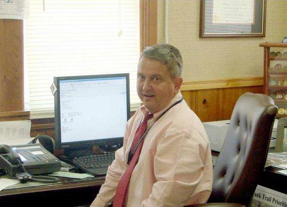 Biering in his office