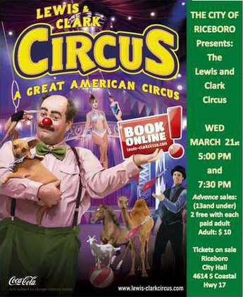 Circus flyer with information