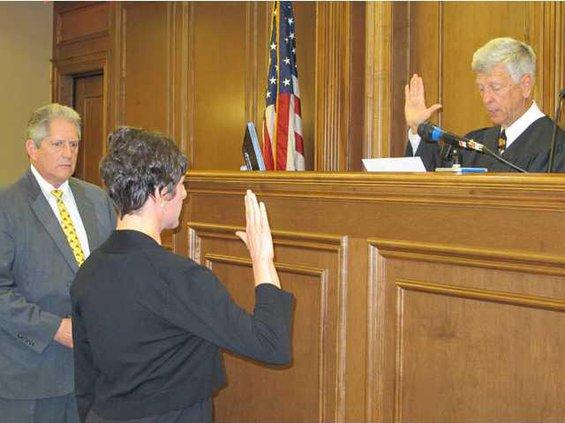 DA Tom Durden new Asst. DA Alexis Smith  Superior Court Chief Judge David Cavender