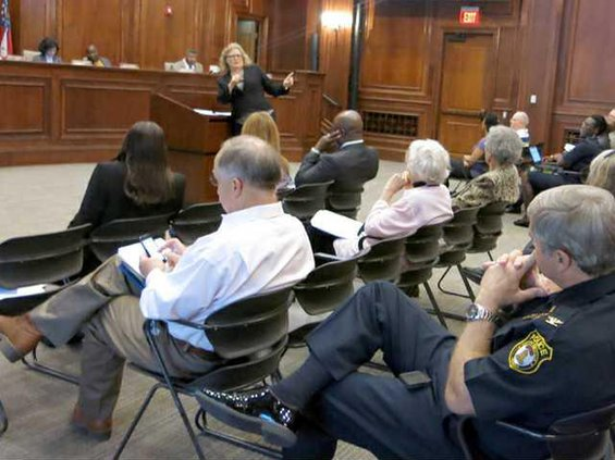 Davis at council meeting