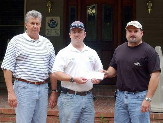 Gum Branch Fire Chief gets check
