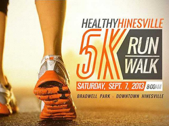 Healthy Hinesville 5K Poster