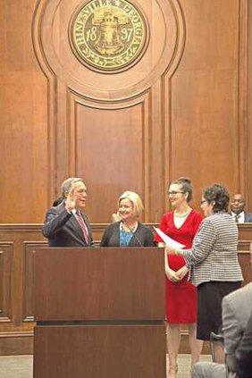 Mayor Brown wife Debbie dau Meredith Kenney