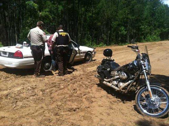 Motorcycle chase crash 2