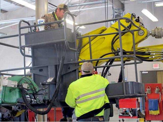 OMI equipment operators Joey Wells Terry Beecher