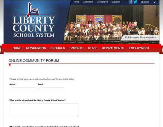 Online forum screen shot