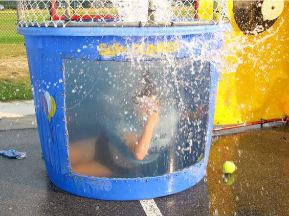 Pic 3 Sarah Lang in the dunk tank