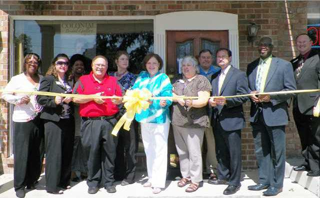 Ribbon Cutting - Colonial Bridal Floral  Gift Gallery