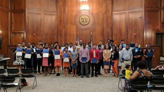 Summer work program completion certificates