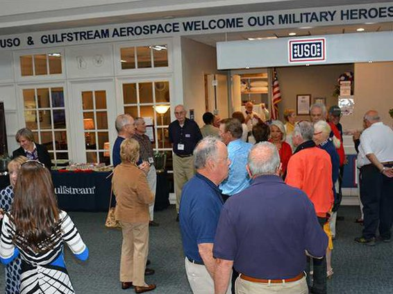 USO reopens at airport
