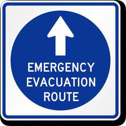 emergency-evacuation-route-arrow-sign-k-0079-u