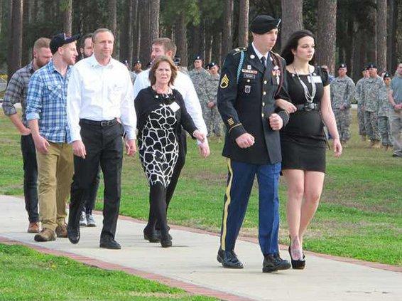 family arrives