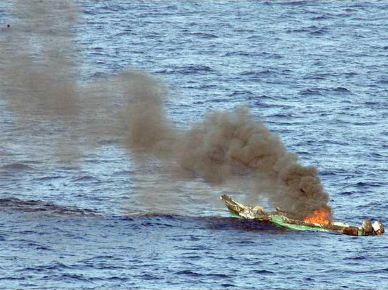 pirate skiff burns