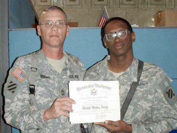 soldier re-enlists