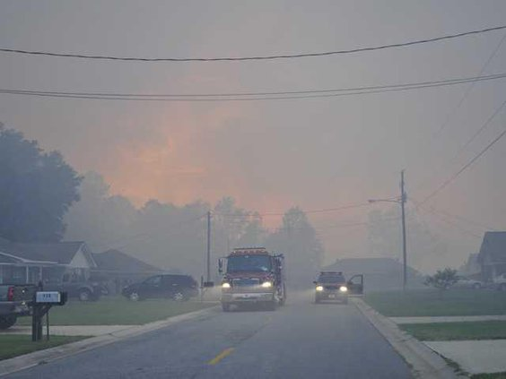 web fire smoky street