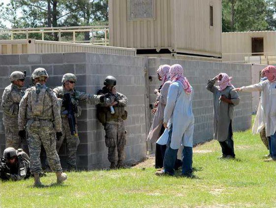 1st ABCT soldiers training for village stability operations Arp 2012