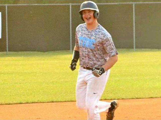 Andrew Swindell was all smiles  after slamming a homerun on Wednesday against Bradwell Institute