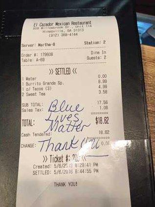 Blue Lives Matter note