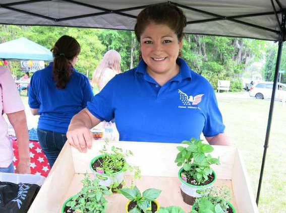 Christina Anthony with Welcome Home Raise Garden