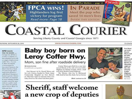 Courier front