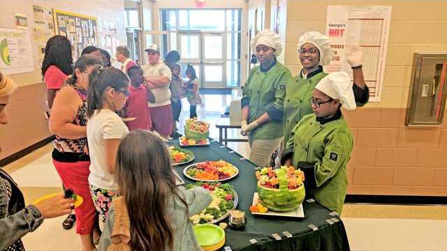 Culinary students Tiffany Swinton