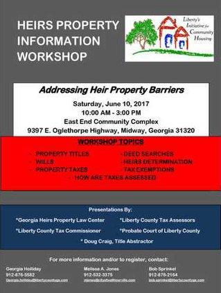 Heirs property workshop flier