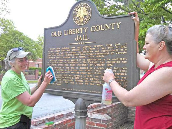 Historic markers cleaned