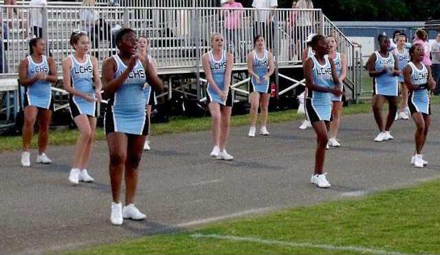 Long Co Cheerleaders had a lot to cheer about in 48-0 win over Jeff Davis