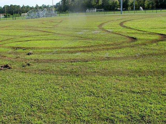 Long vandalized field
