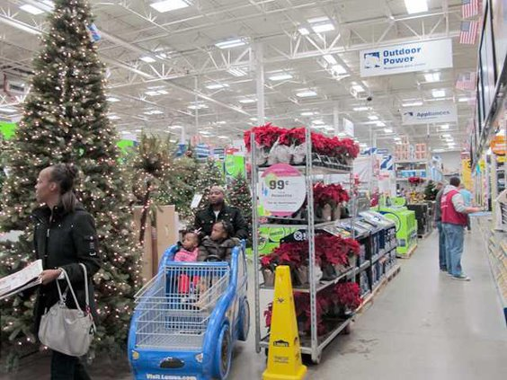 Lowes shoppers