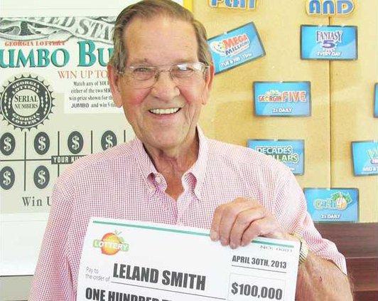 Lucky lotto winner